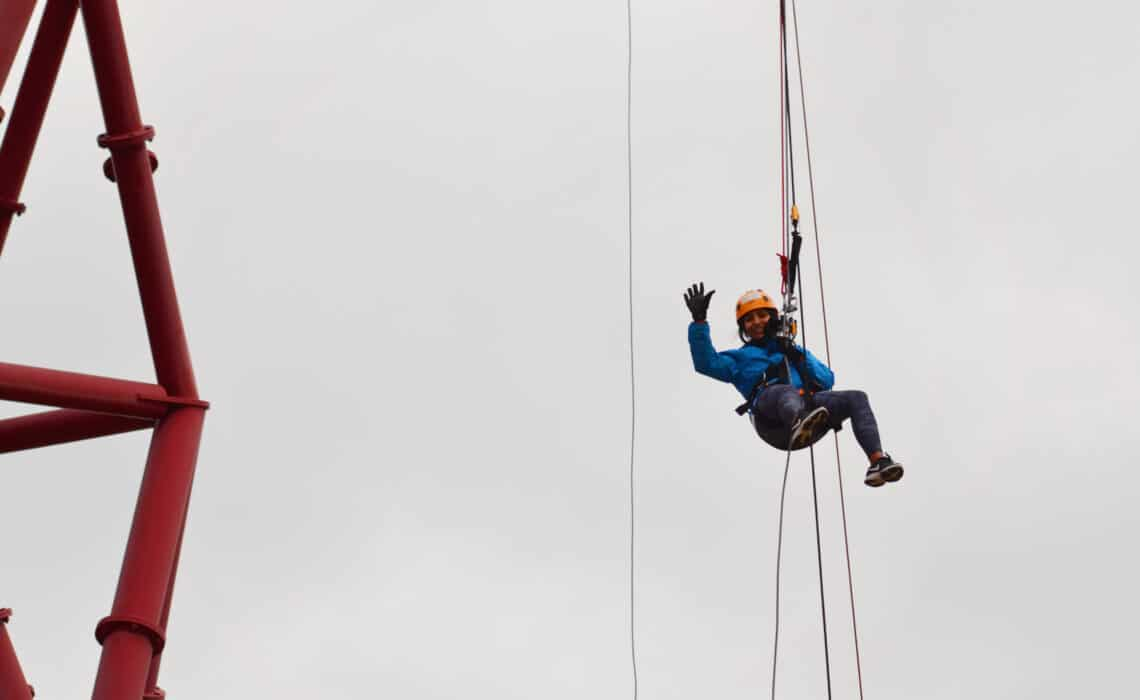 Freefall abseiling for a cause 2