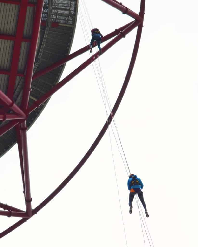 Freefall abseiling for a cause 1