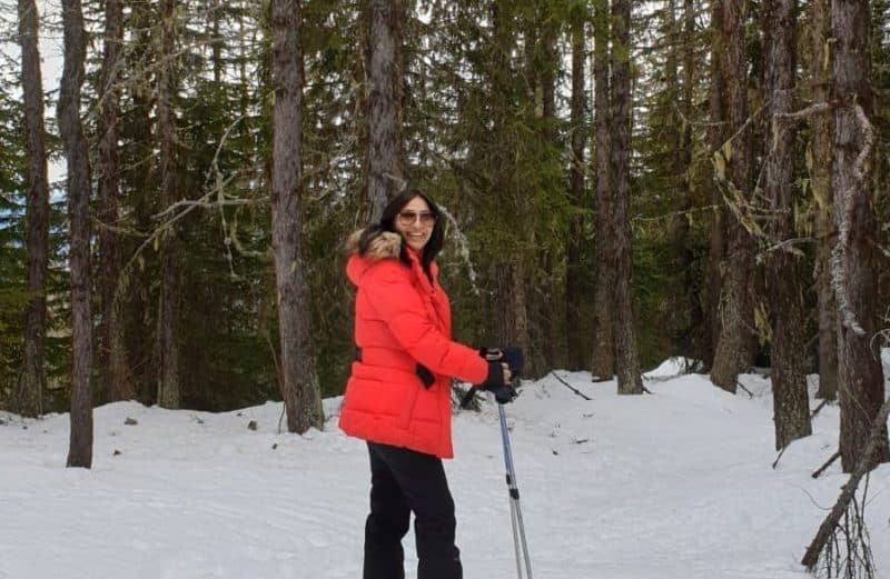 Mont blanc forest snow shoeing
