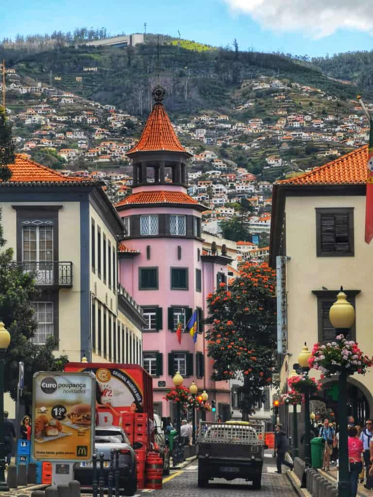 Madeira Funchal street scene