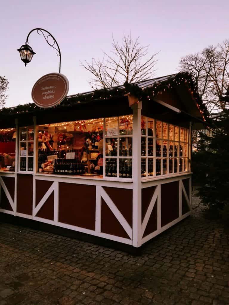 Christmas market Stall at Liseberg Christmas Market