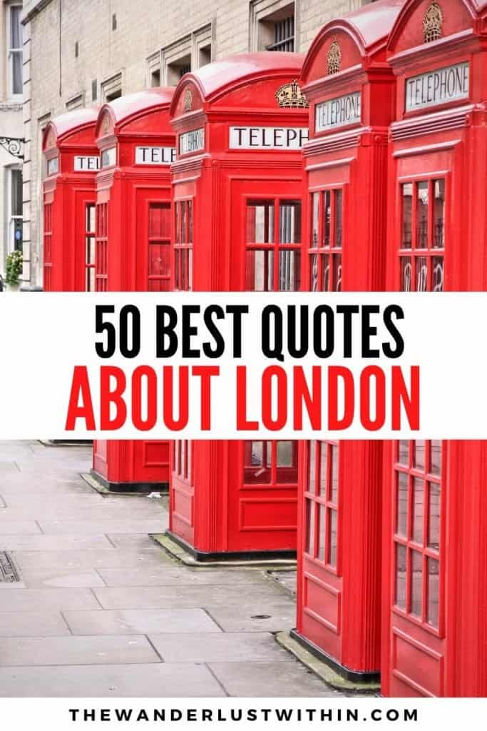 best quotes about London and red phone booths