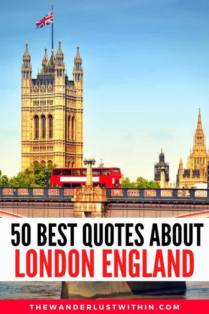 best London quotes with houses of Parliament