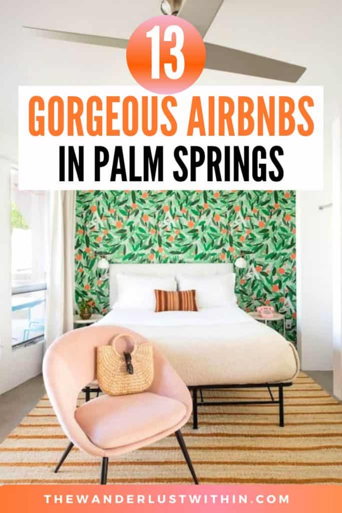 palm springs rentals airbnb