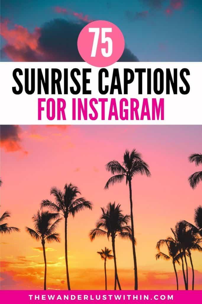 sunrise captions instagram