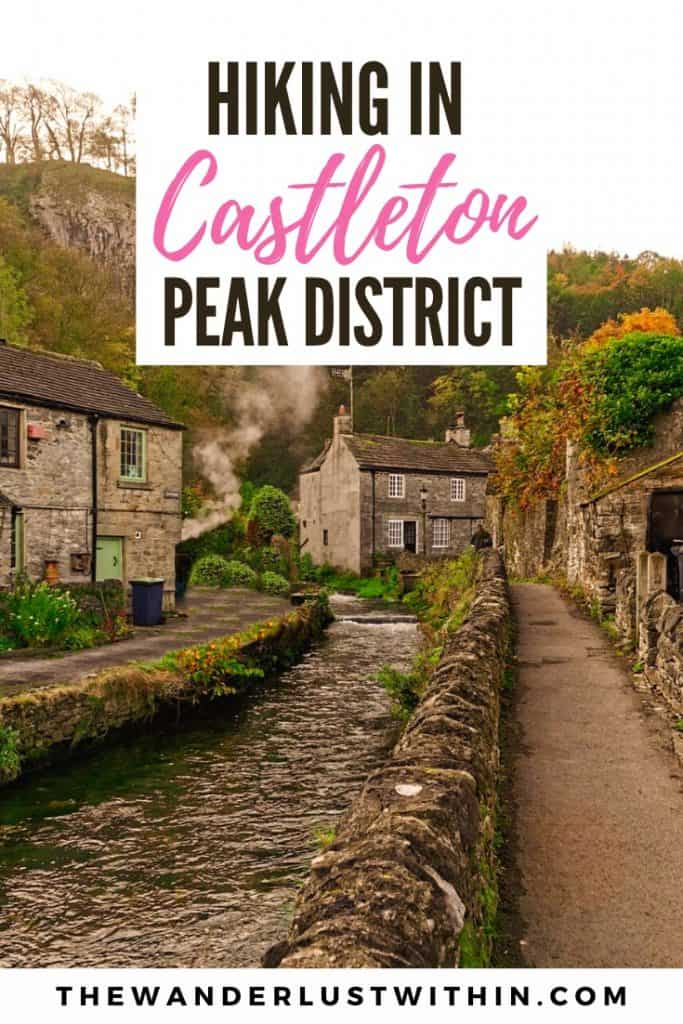 river and old houses in castleton peak district