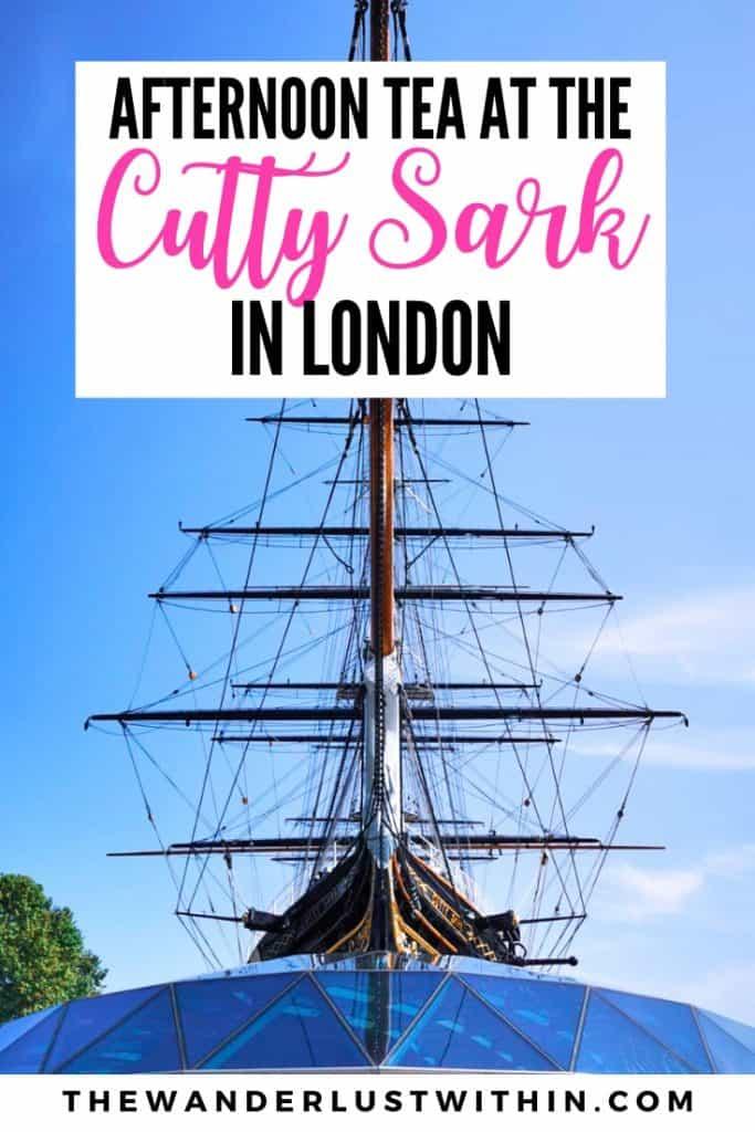 Cutty sark ship in London