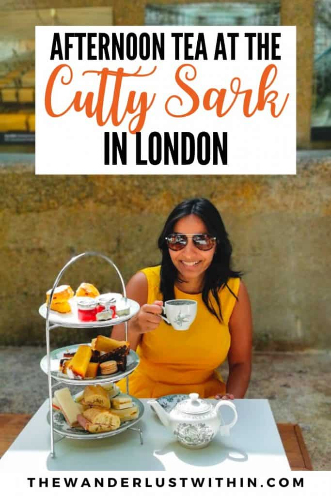 afternoon tea at the cutty sark in greenwich London