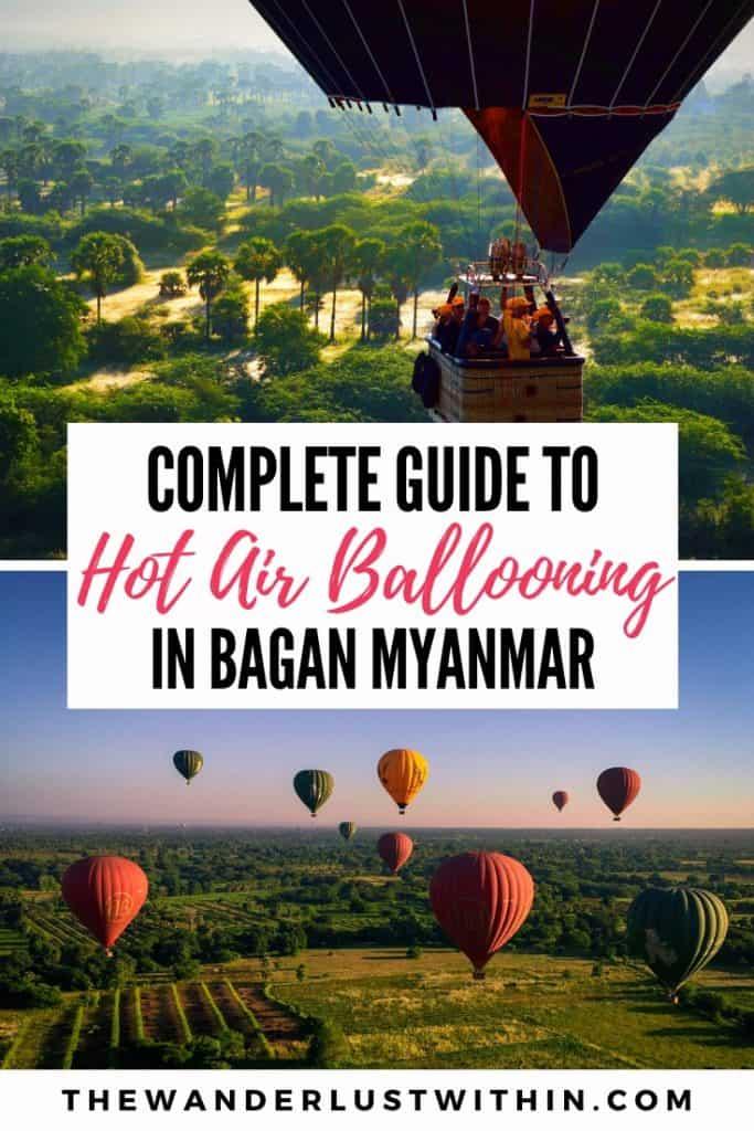 complete guide to hot air ballooning in bagan myanmar