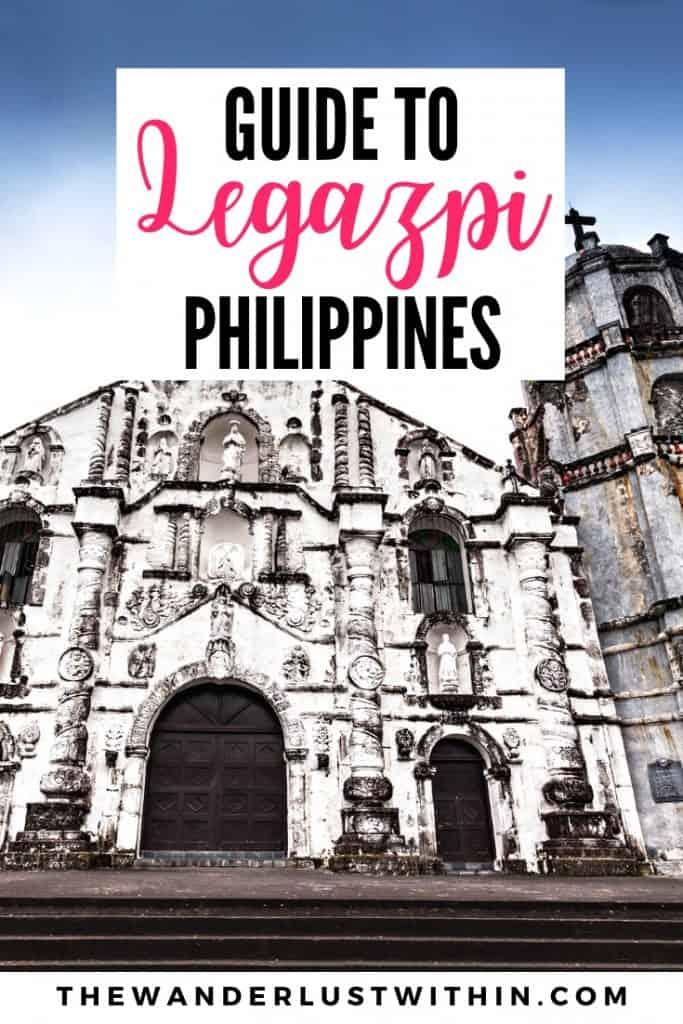 daraga church in white old ruins in Legazpi philippines in Bicol albay