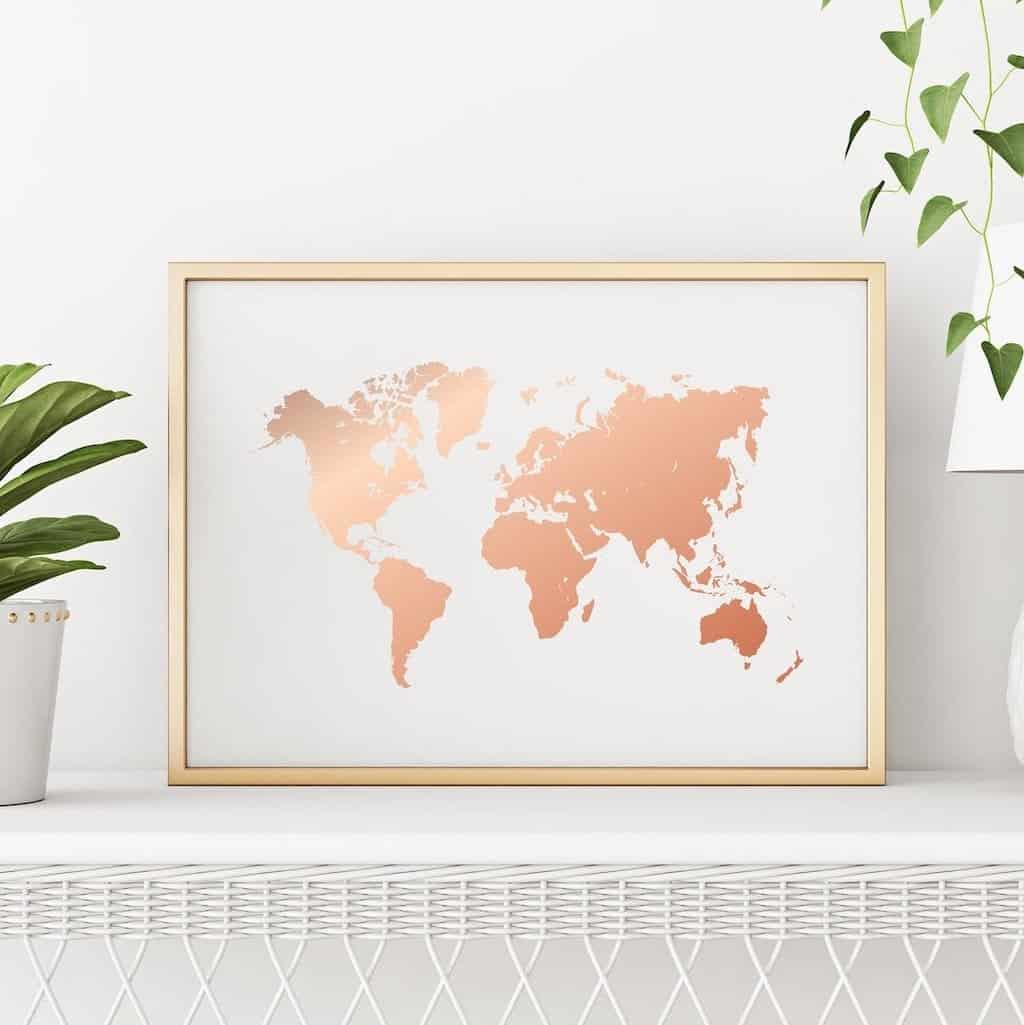 world map poster travel