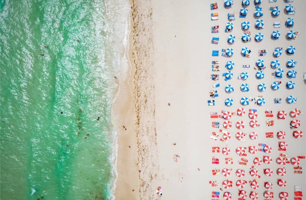 instagram captions for miami view from above of miami beach