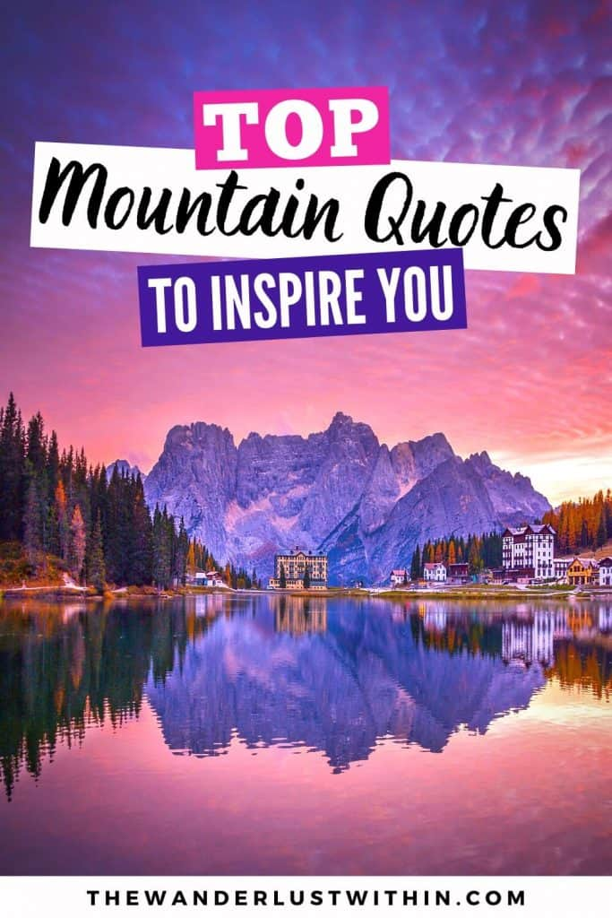 quotes about mountains to Inspire you