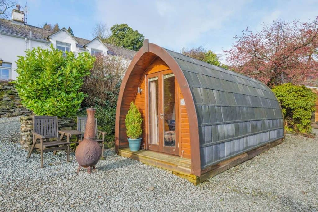 airbnbs lake district pod cottage made from wood