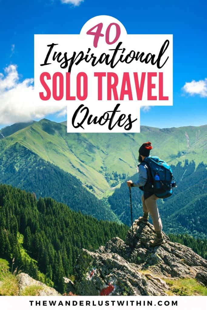 motivational quotes about traveling alone on a solo travel trip