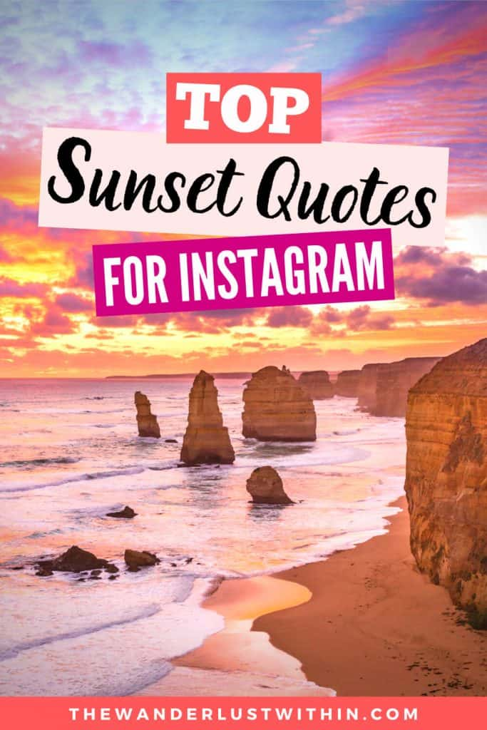 250 Perfect Sunset Captions For Instagram 2020 The Wanderlust Within