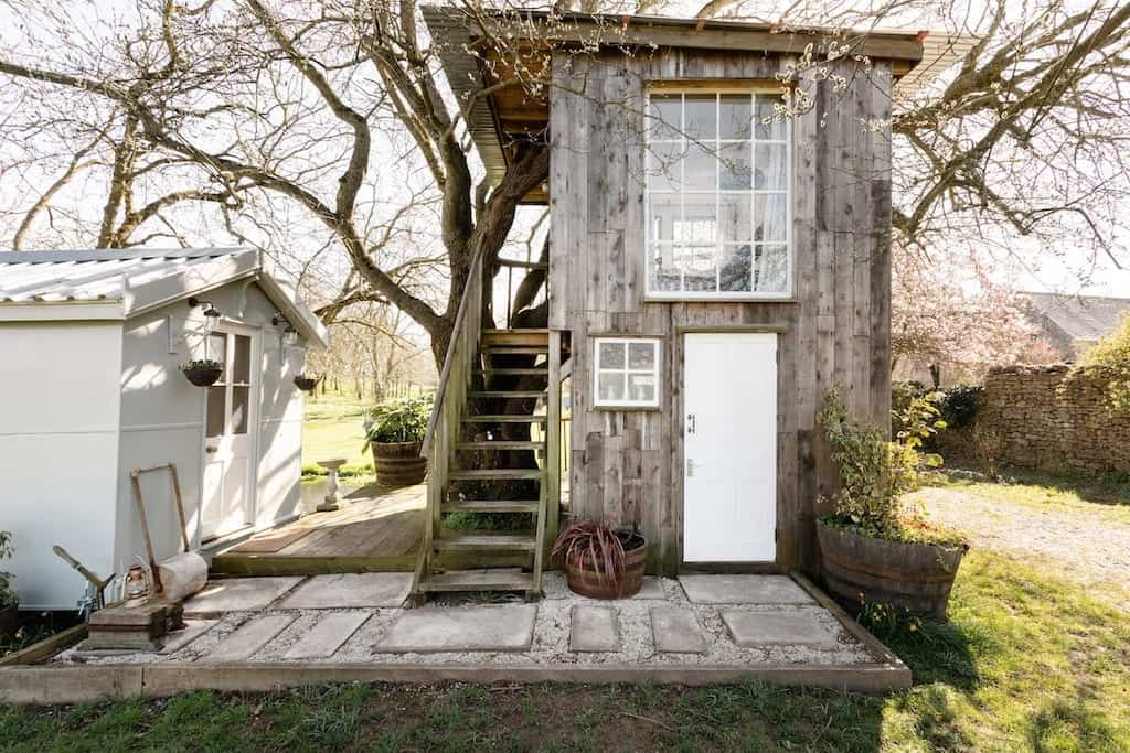 romantic treehouses airbnb with farm view best treehouses uk