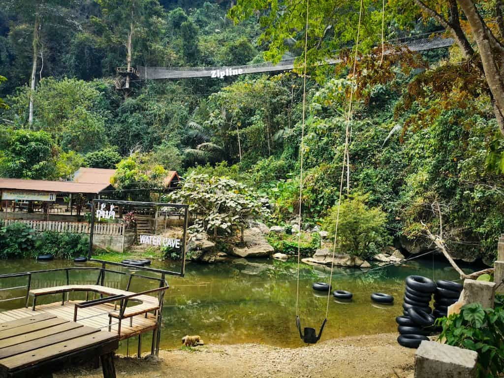 tubing in water cave in vang vieng laos