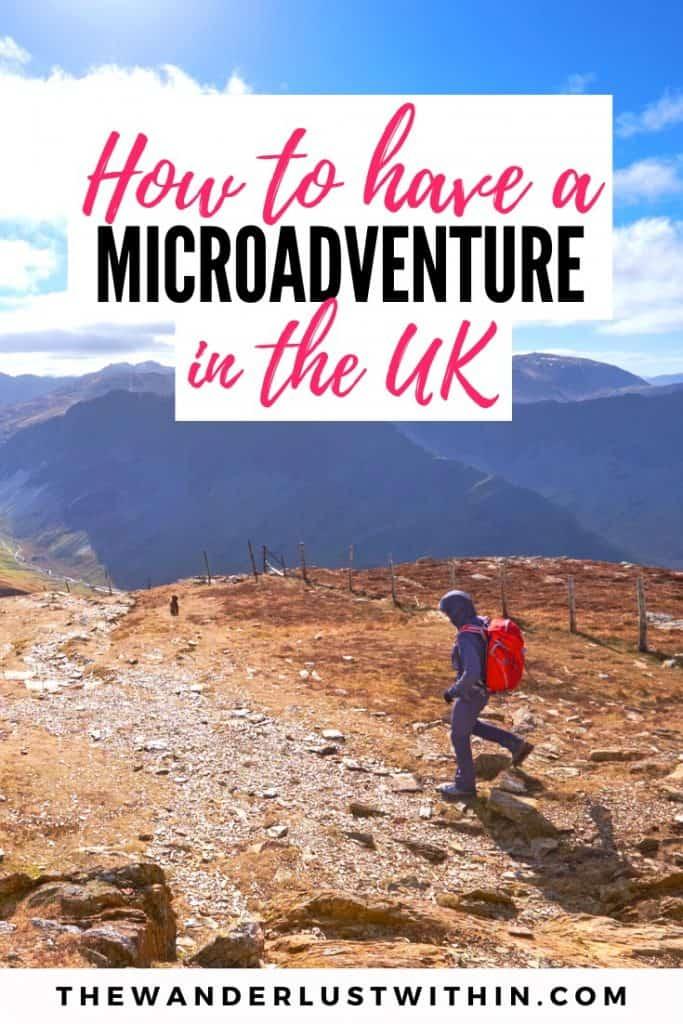 a hiker is walking along the Peak District in England on a mini adventure break