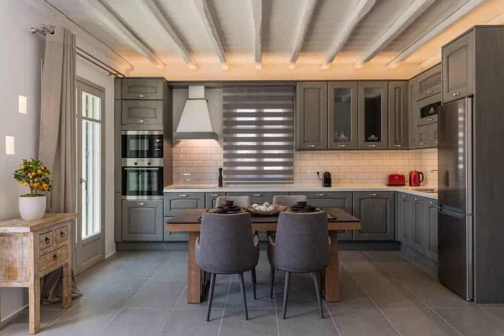 accommodation in mykonos with modern decor inside