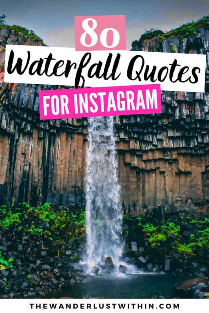 waterfall quotes photo with a man standing in Iceland with a mountain and waterfalls in iceland