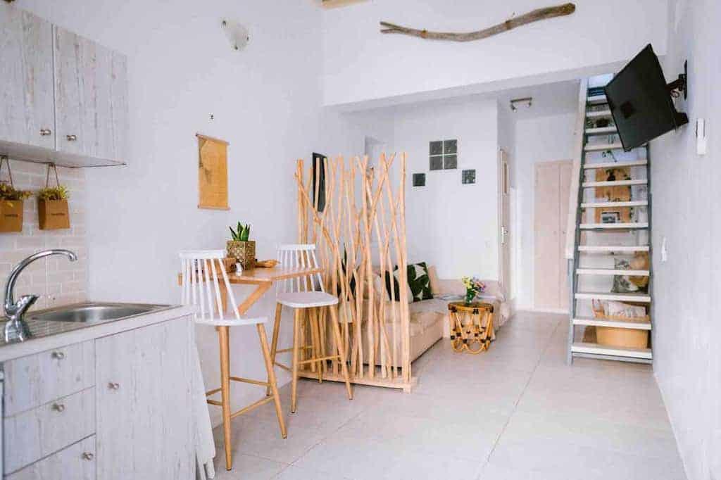 mykonos airbnbs clean interior